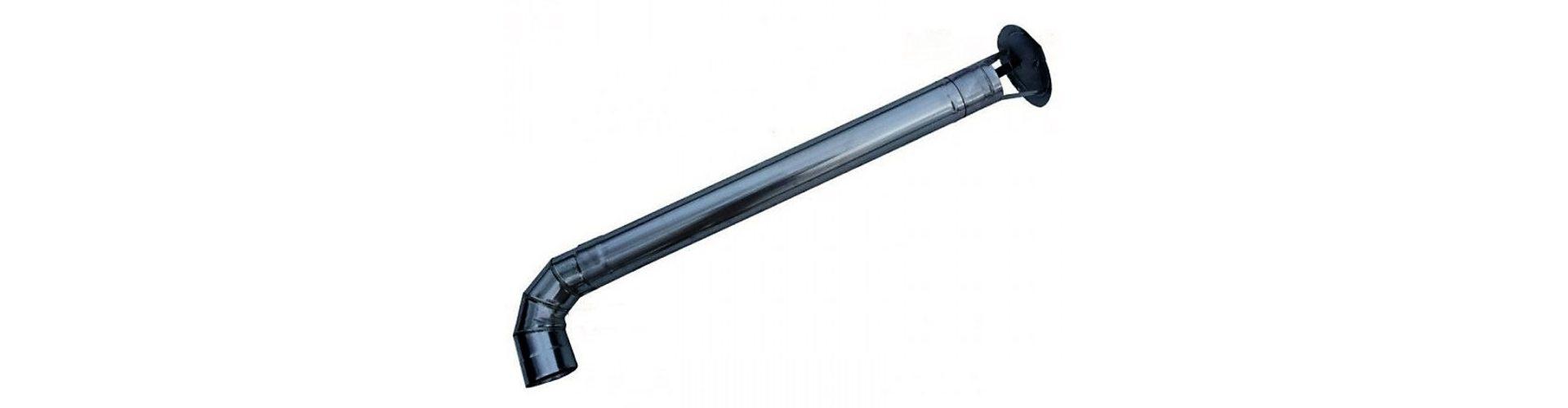 Дымоход для печки усилит тягу и отведет дым за крышу мангала.