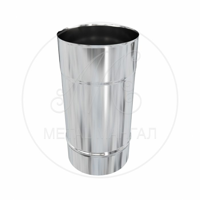 Дымоход ф 250 0.5м н0,5 из нержавеющей стали AISI 430/0,5мм