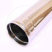 Дымоход ф 150 1м н0,5 из нержавеющей стали AISI 430/0,5мм