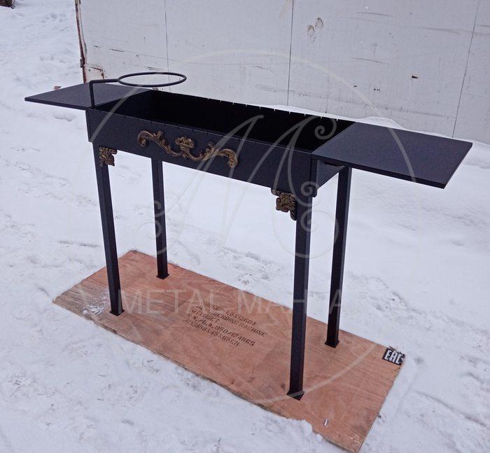 Мангал со съемными столиками ММ- 3