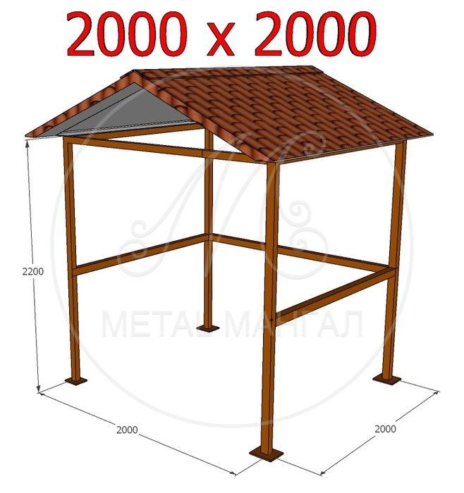 Навес 2000 х 2000
