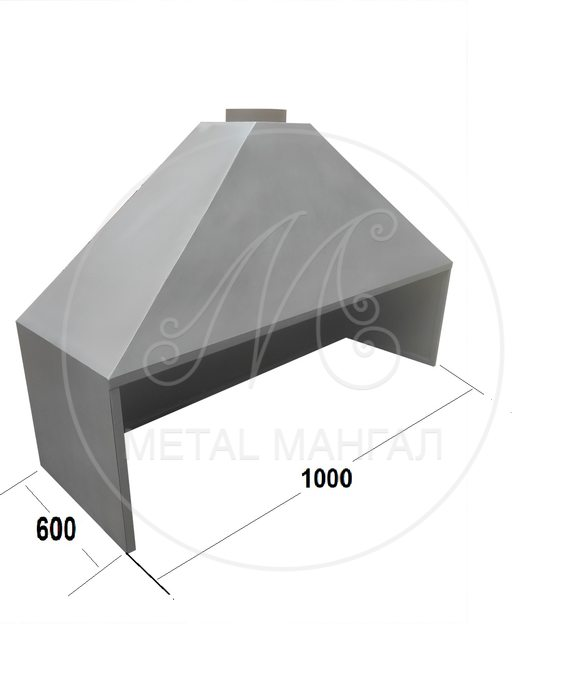 Зонт вытяжной 1000 х 600